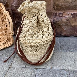 fire monkey Bags - 🎉HP BOHO WOVEN STRAW/WICKER DRAWSTRING BUCKET BAG